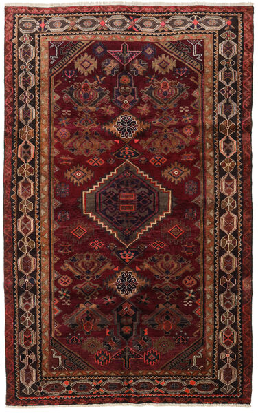 Lori Matta 161X262 Äkta Orientalisk Handknuten Mörkröd/Mörkbrun (Ull, Persien/Iran)