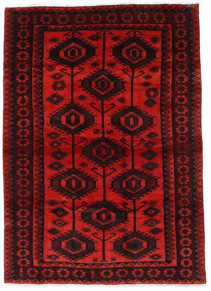 Lori Matta 177X244 Äkta Orientalisk Handknuten Mörkröd/Roströd (Ull, Persien/Iran)