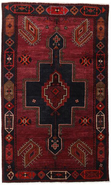 Lori Matta 145X242 Äkta Orientalisk Handknuten Mörkröd (Ull, Persien/Iran)