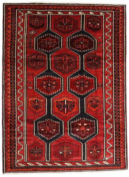 Lori Matta 210X280 Äkta Orientalisk Handknuten Mörkbrun/Roströd/Mörkröd (Ull, Persien/Iran)