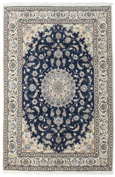 Nain Matta 196X296 Äkta Orientalisk Handknuten Mörkblå/Ljusgrå (Ull, Persien/Iran)