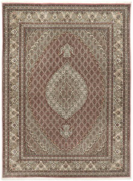 Tabriz 50 Raj Med Silke Matta 155X209 Äkta Orientalisk Handknuten Ljusgrå/Ljusbrun (Ull/Silke, Persien/Iran)