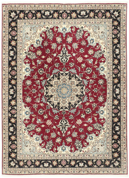 Tabriz 50 Raj Matta 152X205 Äkta Orientalisk Handknuten Ljusgrå/Beige (Ull/Silke, Persien/Iran)