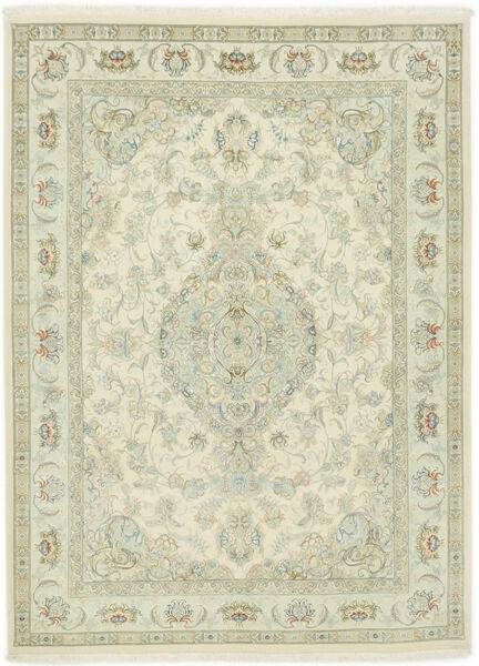 Tabriz 70 Raj Silkesvarp Matta 150X202 Äkta Orientalisk Handknuten Mörkbeige/Beige (Ull/Silke, Persien/Iran)