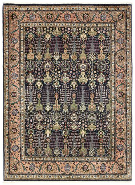 Tabriz 50 Raj Matta 150X198 Äkta Orientalisk Handknuten Mörkgrå/Mörkblå (Ull, Persien/Iran)