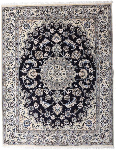 Nain Matta 154X197 Äkta Orientalisk Handknuten Ljusgrå/Mörkgrå (Ull, Persien/Iran)
