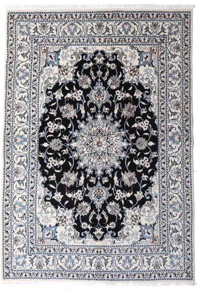 Nain Matta 147X210 Äkta Orientalisk Handknuten Ljusgrå/Mörkgrå (Ull, Persien/Iran)