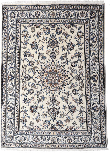 Nain Matta 147X206 Äkta Orientalisk Handknuten Ljusgrå/Mörkgrå (Ull, Persien/Iran)