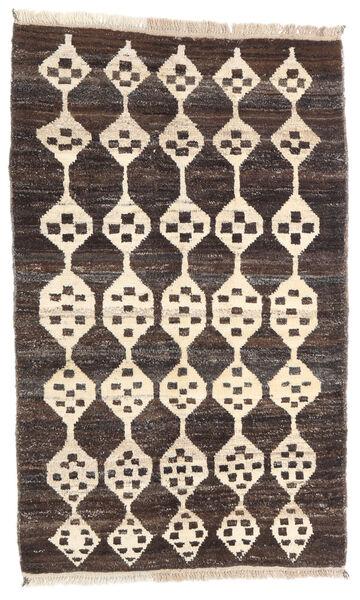 Moroccan Berber - Afghanistan Matta 119X192 Äkta Modern Handknuten Mörkbrun/Beige (Ull, Afghanistan)