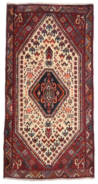 Ghashghai Matta 82X163 Äkta Orientalisk Handknuten Mörkröd/Mörkbrun (Ull, Persien/Iran)