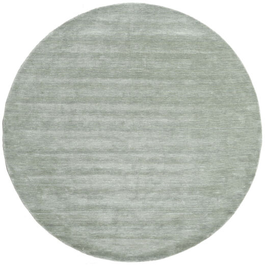 Handloom - Soft Teal Matta Ø 250 Modern Rund Ljusgrön/Turkosblå Stor (Ull, Indien)