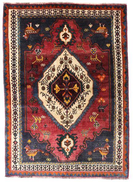 Ghashghai Matta 136X190 Äkta Orientalisk Handknuten Mörkröd/Mörkbrun (Ull, Persien/Iran)