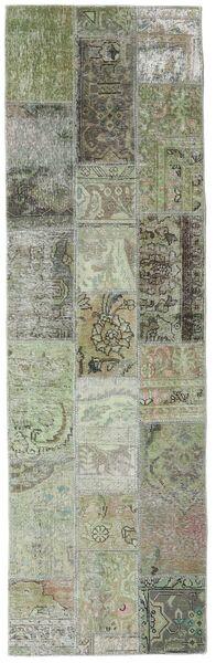 Patchwork - Persien/Iran Matta 76X253 Äkta Modern Handknuten Hallmatta Mörkgrå/Ljusgrå (Ull, Persien/Iran)
