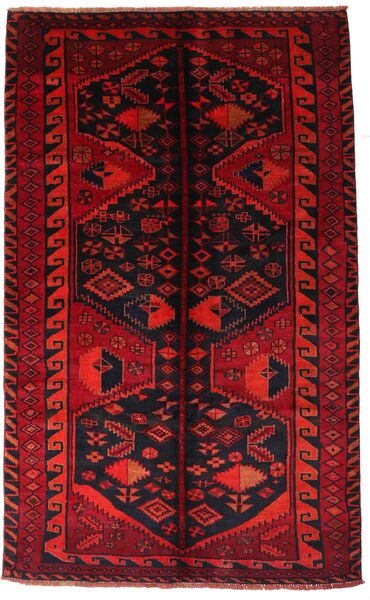 Lori Matta 161X262 Äkta Orientalisk Handknuten Mörkröd/Roströd (Ull, Persien/Iran)