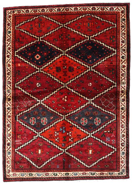 Lori Matta 162X224 Äkta Orientalisk Handknuten Mörkröd (Ull, Persien/Iran)