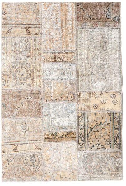 Patchwork - Persien/Iran Matta 105X156 Äkta Modern Handknuten Ljusgrå/Beige (Ull, Persien/Iran)