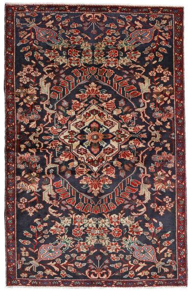 Bakhtiar Matta 133X205 Äkta Orientalisk Handknuten Mörkgrå/Mörkröd (Ull, Persien/Iran)