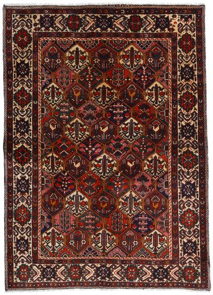 Bakhtiar Matta 153X212 Äkta Orientalisk Handknuten Mörkbrun/Mörkröd (Ull, Persien/Iran)