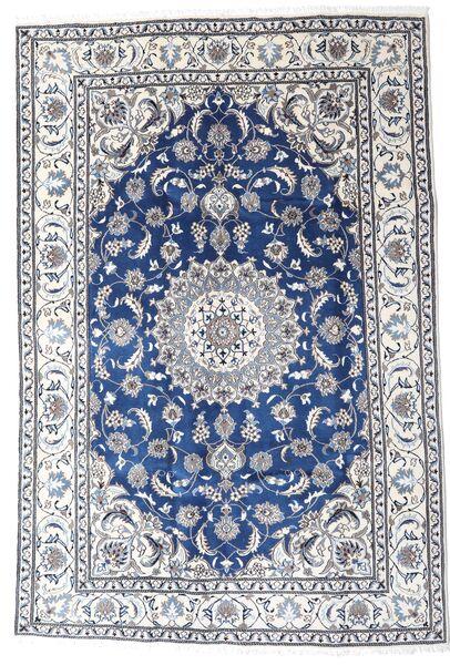 Nain Matta 195X290 Äkta Orientalisk Handknuten Ljusgrå/Vit/Cremefärgad (Ull, Persien/Iran)
