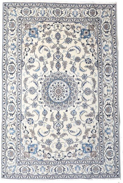 Nain Matta 189X283 Äkta Orientalisk Handknuten Ljusgrå/Beige/Vit/Cremefärgad (Ull, Persien/Iran)
