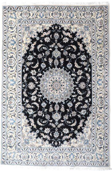 Nain Matta 200X297 Äkta Orientalisk Handknuten Vit/Cremefärgad/Ljusgrå (Ull, Persien/Iran)