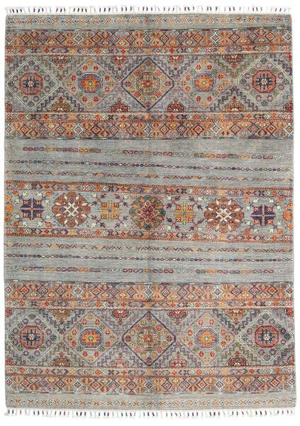 Shabargan Matta 150X204 Äkta Modern Handknuten Ljusgrå/Mörkgrå (Ull, Afghanistan)