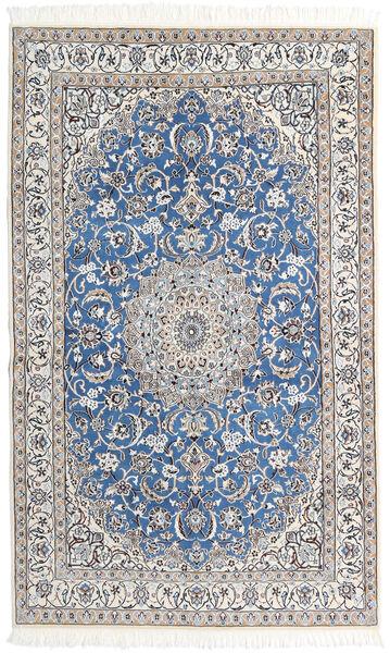Nain 9La Matta 126X206 Äkta Orientalisk Handknuten Ljusgrå/Vit/Cremefärgad/Mörkgrå (Ull/Silke, Persien/Iran)