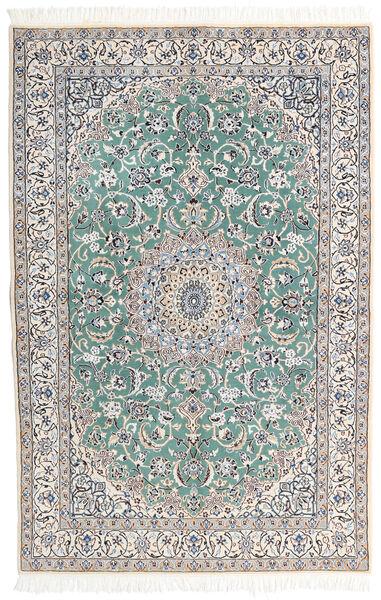 Nain 9La Matta 130X198 Äkta Orientalisk Handknuten Ljusgrå/Mörkgrå (Ull/Silke, Persien/Iran)