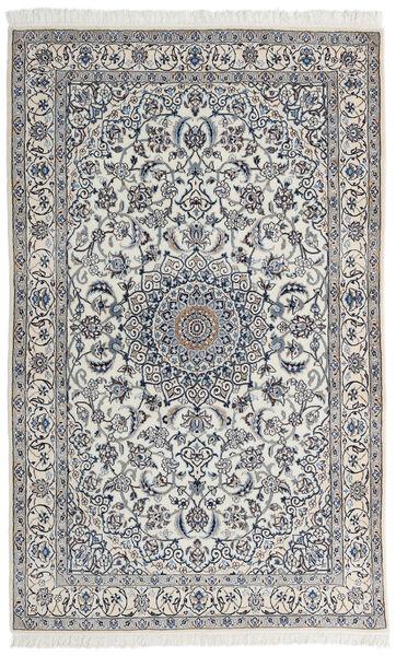 Nain 9La Matta 123X200 Äkta Orientalisk Handknuten Ljusgrå/Mörkgrå (Ull/Silke, Persien/Iran)