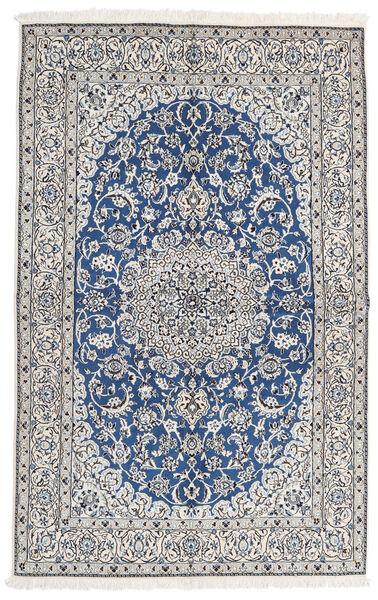 Nain 9La Matta 163X257 Äkta Orientalisk Handknuten Ljusgrå/Mörkgrå (Ull/Silke, Persien/Iran)