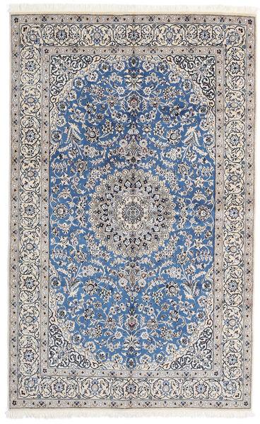 Nain 9La Matta 156X252 Äkta Orientalisk Handknuten Ljusgrå/Vit/Cremefärgad (Ull/Silke, Persien/Iran)