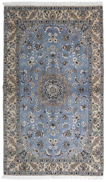 Nain 9La Matta 127X215 Äkta Orientalisk Handknuten Mörkgrå/Ljusgrå (Ull/Silke, Persien/Iran)
