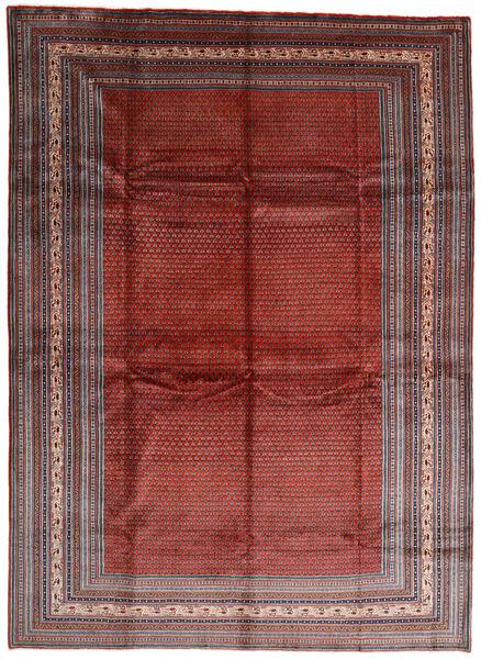Sarough Mir Matta 317X433 Äkta Orientalisk Handknuten Mörkröd/Mörkbrun Stor (Ull, Persien/Iran)