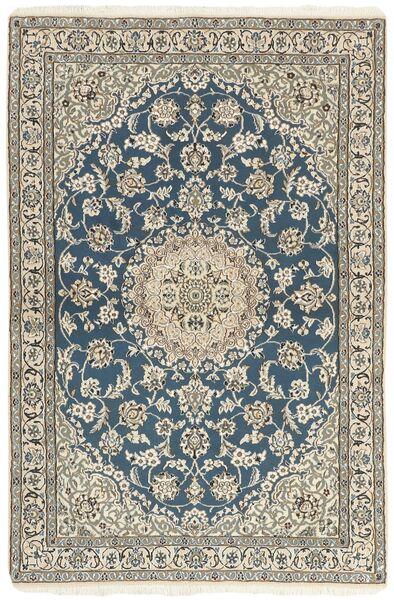 Nain 9La Matta 118X176 Äkta Orientalisk Handknuten Ljusgrå/Beige (Ull/Silke, Persien/Iran)