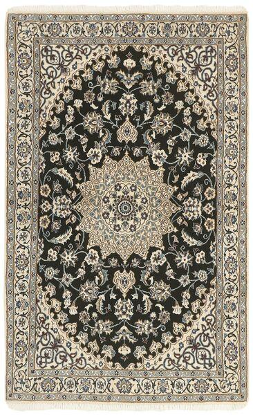 Nain 9La Matta 114X183 Äkta Orientalisk Handknuten Ljusgrå/Mörkgrå/Beige (Ull/Silke, Persien/Iran)