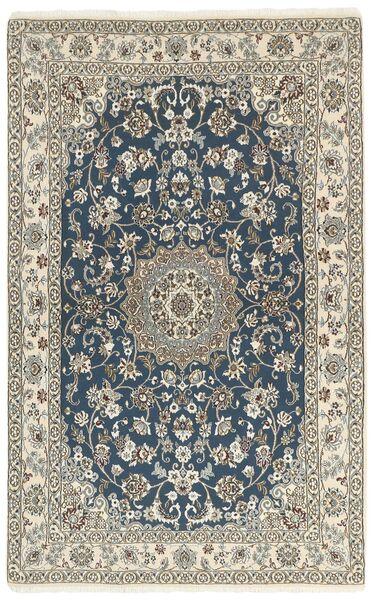 Nain 9La Matta 132X213 Äkta Orientalisk Handknuten Mörkgrå/Ljusgrå/Beige (Ull/Silke, Persien/Iran)