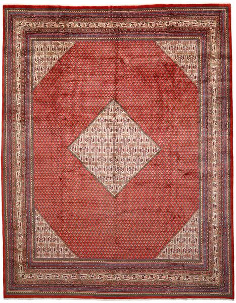 Sarough Mir Matta 303X385 Äkta Orientalisk Handknuten Mörkröd/Roströd Stor (Ull, Persien/Iran)