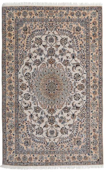 Nain 9La Matta 155X245 Äkta Orientalisk Handknuten Ljusgrå/Ljusbrun (Ull/Silke, Persien/Iran)
