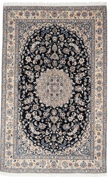 Nain 9La Matta 156X248 Äkta Orientalisk Handknuten Ljusgrå/Mörkgrå (Ull/Silke, Persien/Iran)