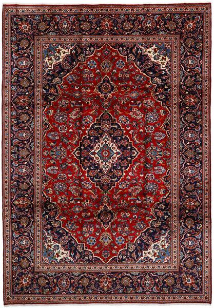 Keshan Matta 238X350 Äkta Orientalisk Handknuten Mörkröd/Mörklila (Ull, Persien/Iran)