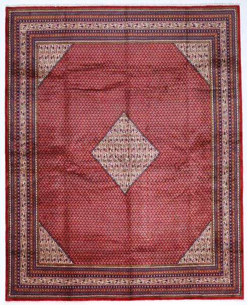 Sarough Mir Matta 307X386 Äkta Orientalisk Handknuten Mörkröd/Mörklila Stor (Ull, Persien/Iran)