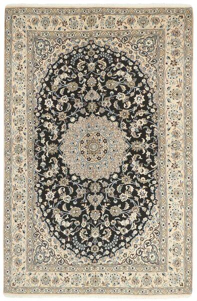 Nain 9La Matta 158X244 Äkta Orientalisk Handknuten Ljusgrå/Mörkgrå (Ull/Silke, Persien/Iran)