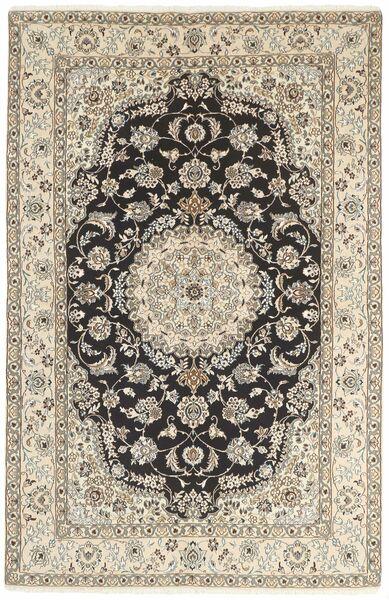Nain 9La Matta 154X243 Äkta Orientalisk Handknuten Ljusgrå/Beige (Ull/Silke, Persien/Iran)