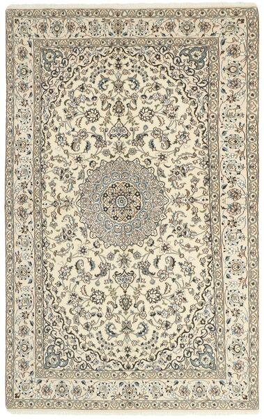 Nain 9La Matta 154X253 Äkta Orientalisk Handknuten Ljusgrå/Beige (Ull/Silke, Persien/Iran)