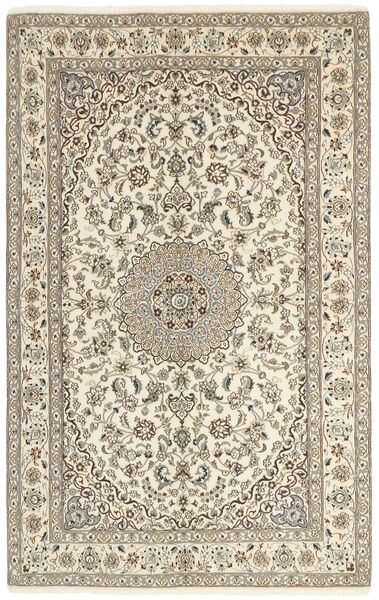 Nain 9La Matta 155X253 Äkta Orientalisk Handknuten Ljusgrå/Beige (Ull/Silke, Persien/Iran)