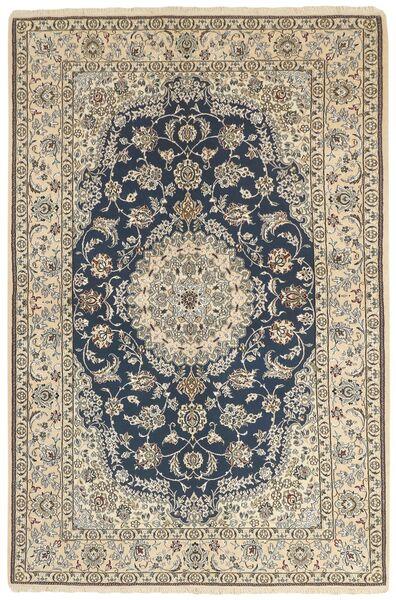 Nain 9La Matta 158X244 Äkta Orientalisk Handknuten Ljusgrå/Beige (Ull/Silke, Persien/Iran)