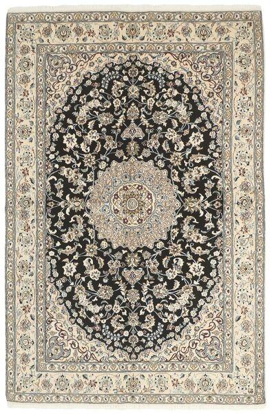 Nain 9La Matta 158X242 Äkta Orientalisk Handknuten Ljusgrå/Beige (Ull/Silke, Persien/Iran)