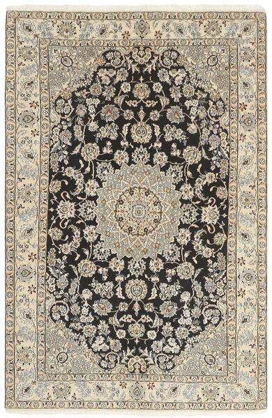Nain 9La Matta 142X218 Äkta Orientalisk Handknuten Ljusgrå/Beige (Ull/Silke, Persien/Iran)