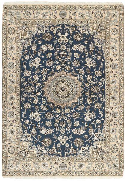 Nain 9La Matta 148X210 Äkta Orientalisk Handknuten Ljusgrå/Mörkgrå/Beige (Ull/Silke, Persien/Iran)