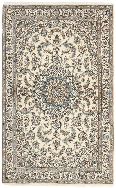 Nain 9La Matta 115X188 Äkta Orientalisk Handknuten Ljusgrå/Beige (Ull/Silke, Persien/Iran)